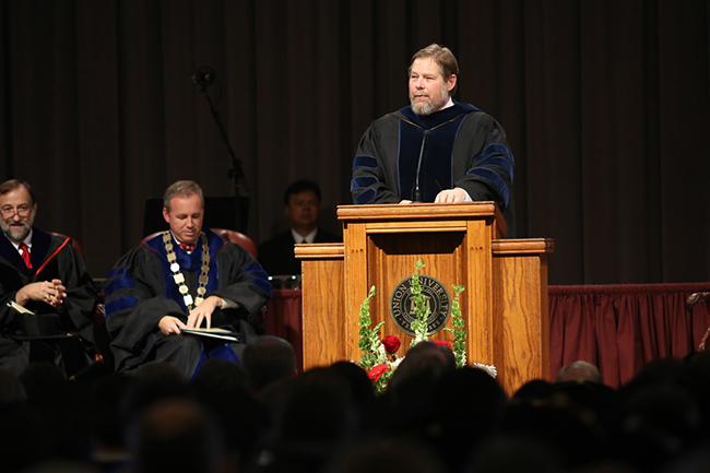 Dr. Ben Mitchell introduces new staff and faculty