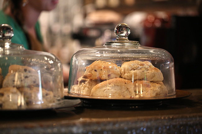 Scones at Barefoots Joe, available on Thursdays.