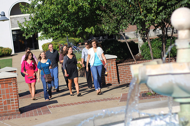 Preview Day tour across campus