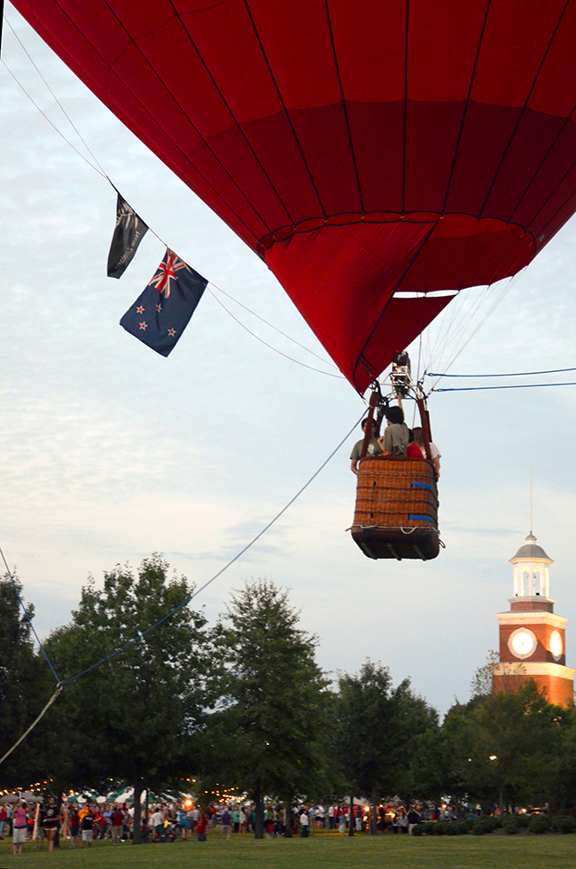 The hot air balloon was a big hit, with students and families lined up waiting for their turn at Union Night.