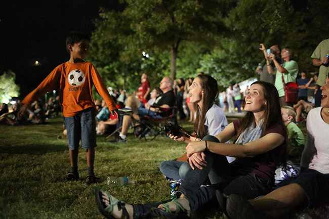 Kersey family marvels at the fireworks