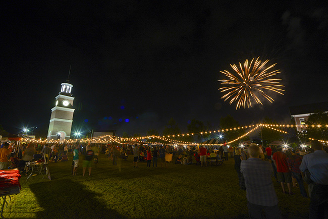 Fireworks, Miller Tower and Union Night guests