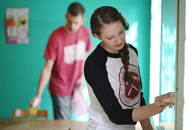 Students work at ROAR, an after school program