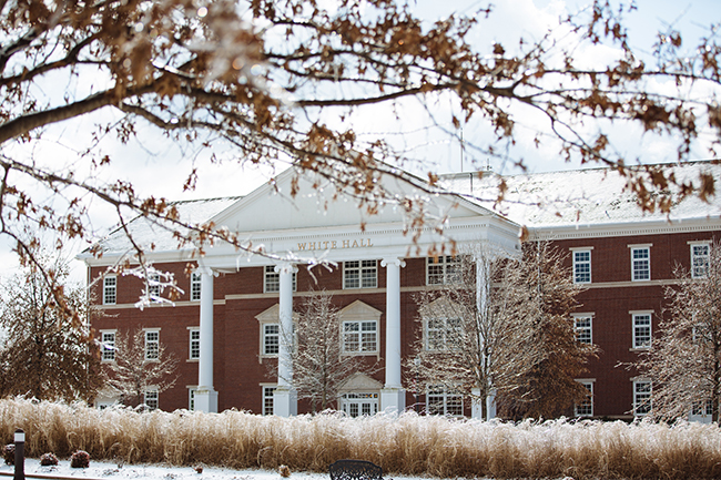 White Hall in the snow