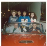"Submitted by Norma Gerrell - ""Proclamation 1986 Friends for life. Left to right: Norma Scott Gerrell Tommy Rowell Grace Cosmiano Plunk Kennda Ross Front passenger - Drew Gay Driver- Chip Leake"""