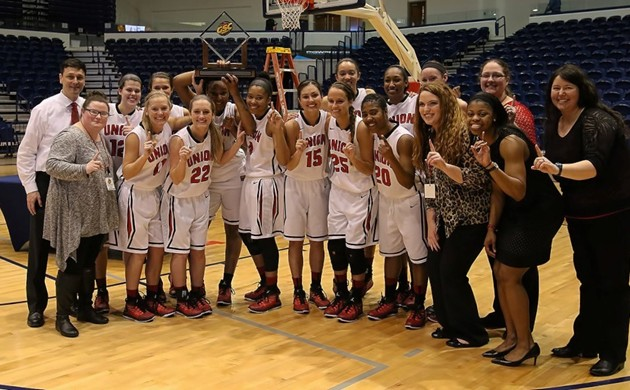 The Lady Bulldogs after their Gulf South Conference tournament win
