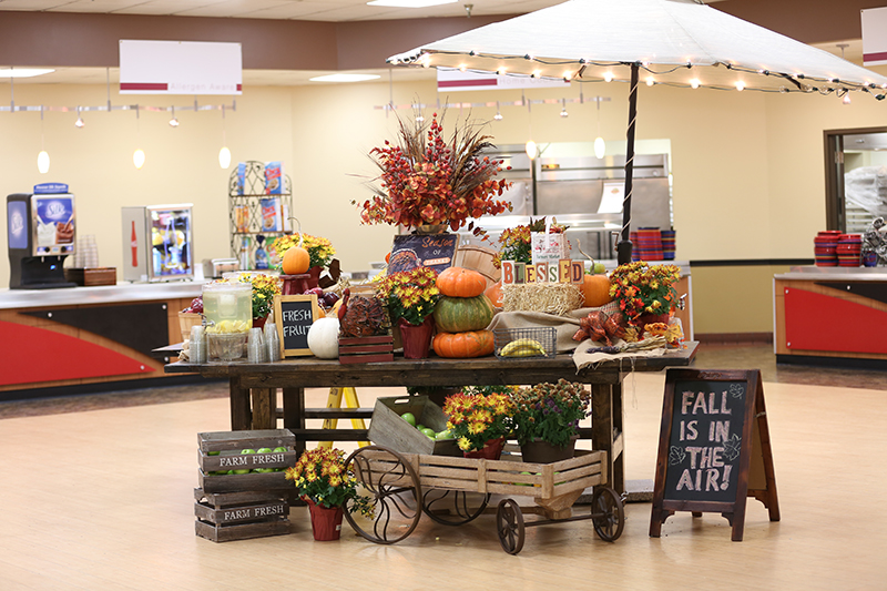 Fall decoration in the cafeteria